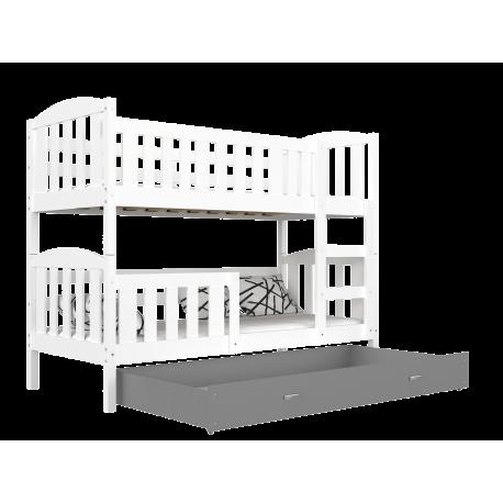 Lit superposé Jacob 2 avec tiroir 160x80 cm