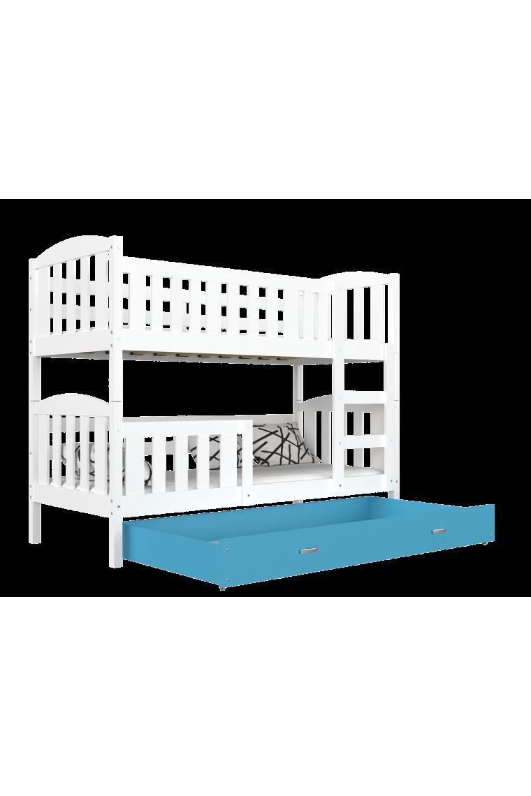 lit superpos jacob 2 avec tiroir 200x90 cm. Black Bedroom Furniture Sets. Home Design Ideas