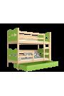 Lit superposé en bois massif 190x80 cm