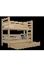 Lit superposé en bois massif Jack 180x80 cm