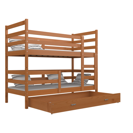 lit superpos en bois massif jack avec tiroir 190x80 cm. Black Bedroom Furniture Sets. Home Design Ideas