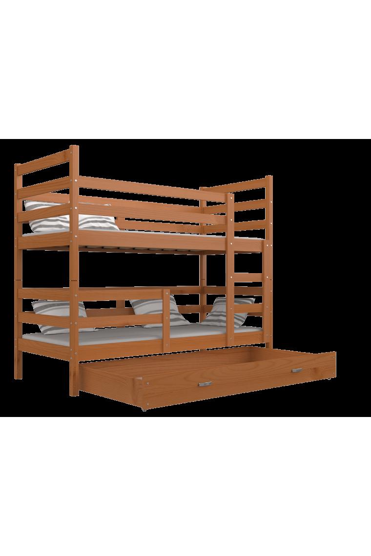 lit superpos en bois massif jack avec tiroir 190x80 cm. Black Bedroom Furniture Sets. Home Design Ideas