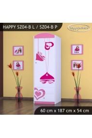 Armoire Happy Collection avec tiroirs et étagères