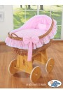 Berceau bébé osier Carine - Rose