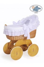 Berceau bébé osier Lily - Blanc