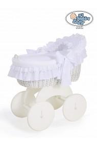 Berceau bébé osier Charlotte - Blanc
