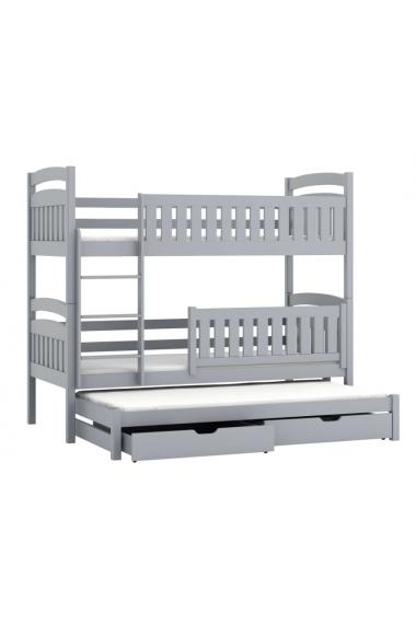 Lit superposé avec lit gigogne Beatriz 180x80 cm