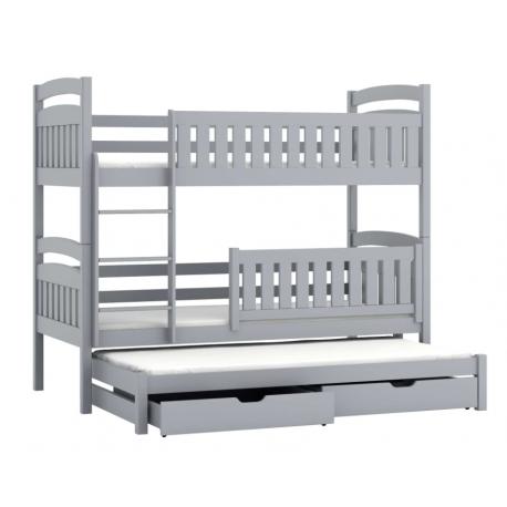 Lit superposé avec lit gigogne Beatriz 200x90 cm