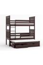 Lit superposé avec lit gigogne Juan 180x80 cm