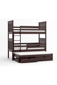 Lit superposé avec lit gigogne Juan 200x90 cm