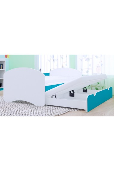 Lit enfant gigogne Happy Collection avec 2 matelas 160x80 cm