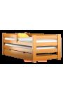 Lit gigogne en bois massif avec tiroir et matelas Pablo 190x80 cm