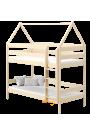 Lit superposé en bois massif Maison 200x90 cm