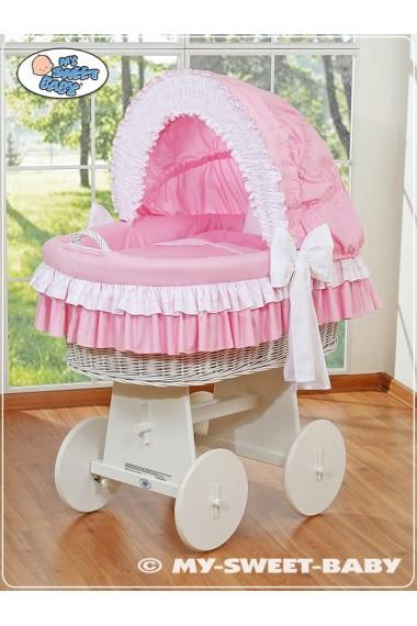 Berceau bébé osier Bellamy - Rose