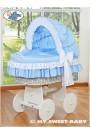 Berceau bébé osier Bellamy - Bleu