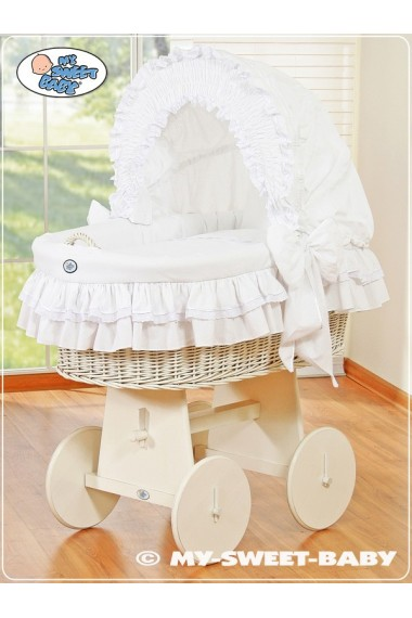 Berceau bébé osier Bellamy - Blanc