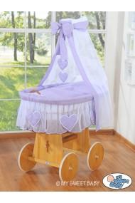Berceau bébé Coeurs osier - Violette