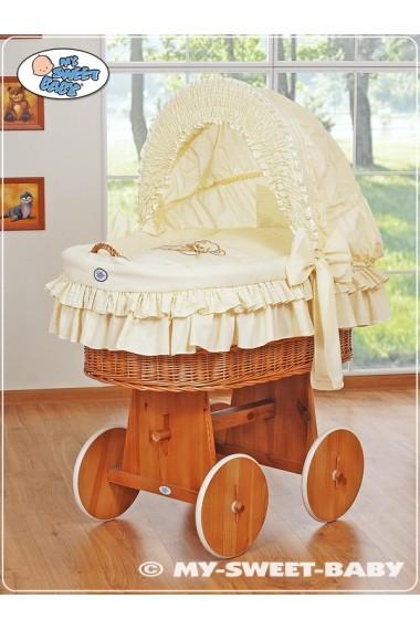 Berceau bébé Teddy osier - Crème