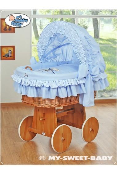Berceau bébé Teddy osier - Bleu