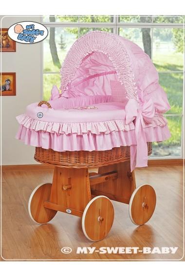 Berceau bébé Teddy osier - Rose