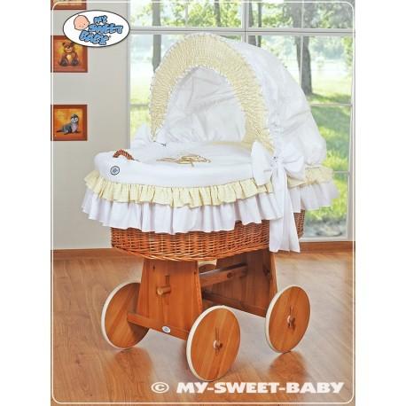 Berceau bébé Teddy osier - Blanc
