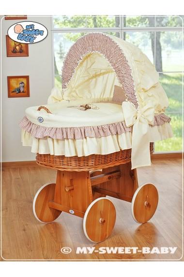 Berceau bébé Teddy osier - Beige