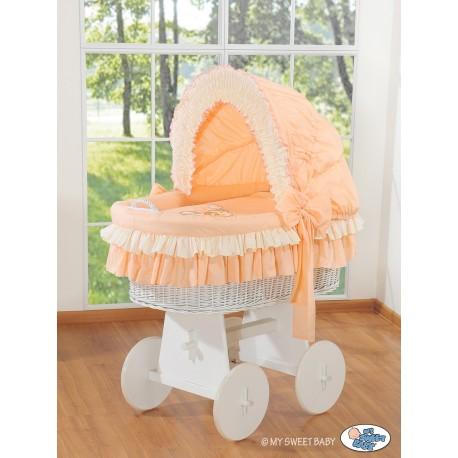 Berceau bébé osier Teddy - Pêche-blanc