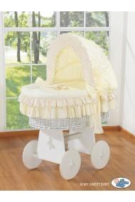 Berceau bébé osier Teddy - Crème-blanc