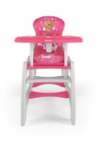 Chaise haute transformable en table et chaise Bear