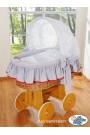 Berceau bébé Glamour osier - Gris