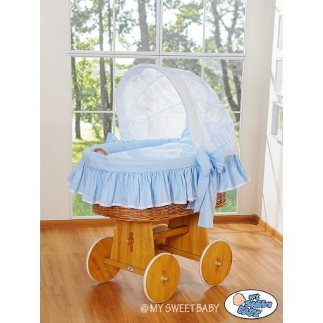 Berceau bébé Glamour osier - Bleu