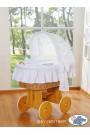 Berceau bébé Glamour osier - Blanc