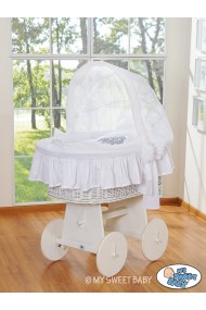 Berceau bébé osier Glamour - Blanc