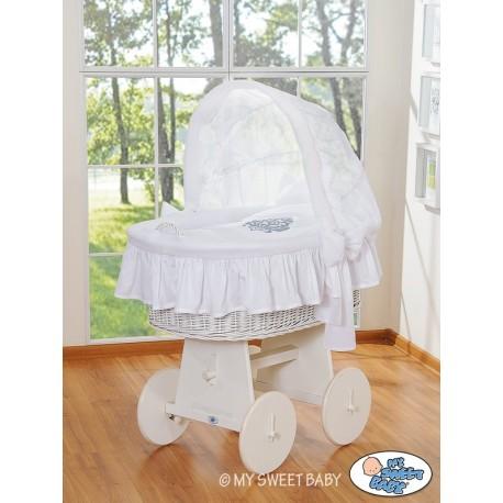 Berceau bébé Glamour osier - Blanc-Blanc