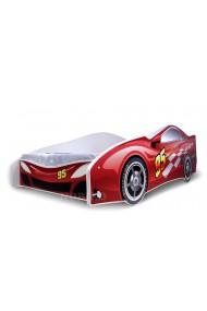 Lit voiture rouge avec matelas 180x80