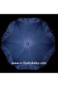 Ombrelle pour poussette universelle bleue marine