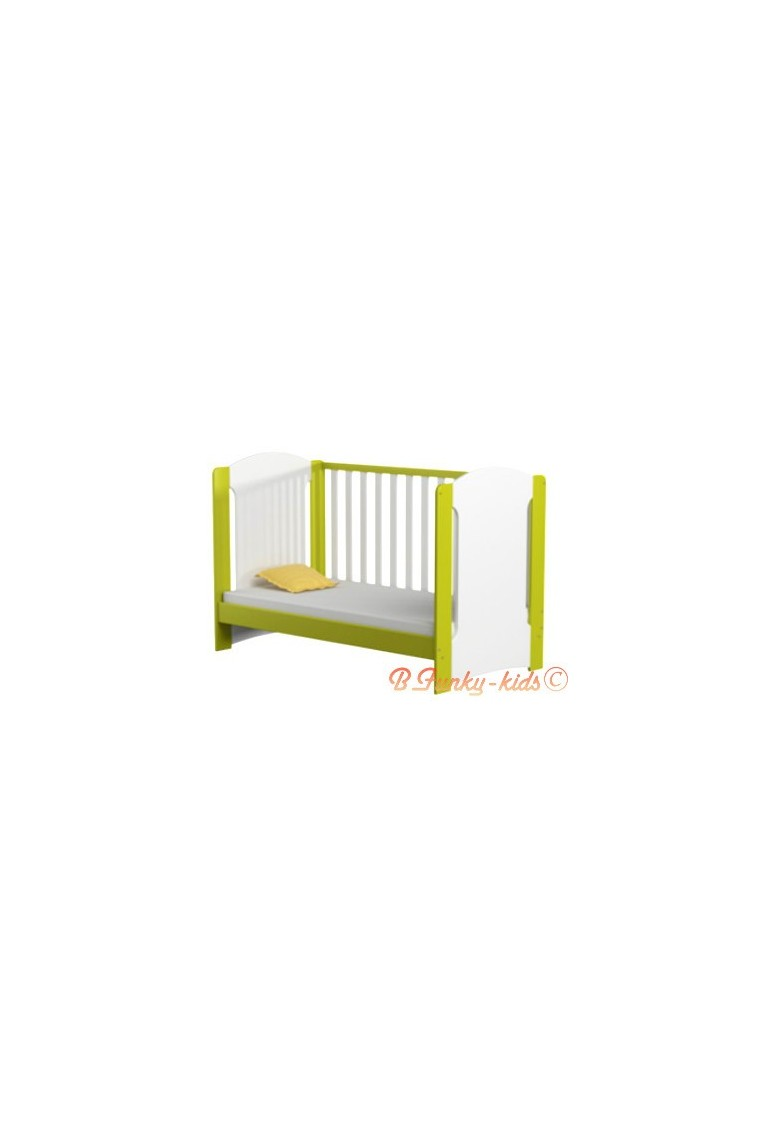 lit b b en bois massif de pin avec matelas vera 140x70 cm. Black Bedroom Furniture Sets. Home Design Ideas