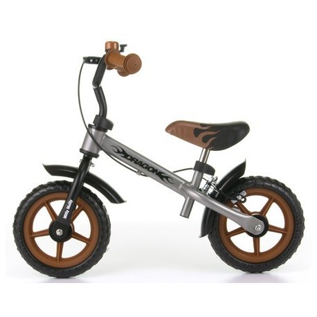 DRAGON AVEC FREIN ARGENT - vélo sans pédales
