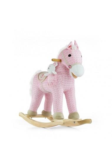 Cheval à Bascule Pony rose