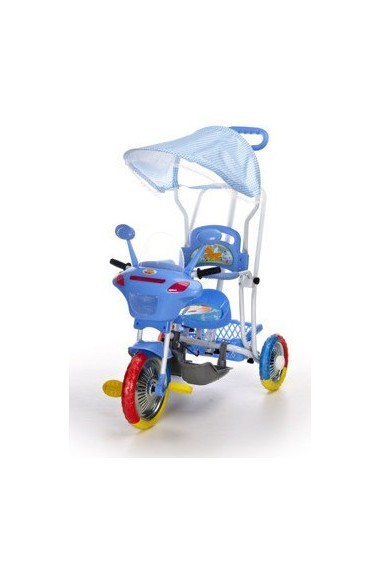 Tricycle Motocyclette bleu