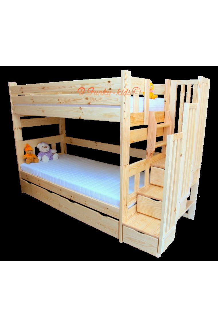 lit superpos avec escalier rangement enrique 200x90 cm. Black Bedroom Furniture Sets. Home Design Ideas