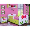 Lit enfant Happy Vert Collection avec tiroir et matelas 140x70 cm