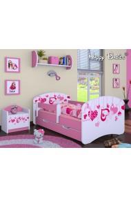 Lit enfant Happy Rose Collection avec tiroir et matelas