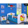 Lit enfant Happy Bleue Collection avec tiroir et matelas 140x70 cm