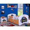 Lit enfant Happy Orange Collection avec tiroir et matelas 140x70 cm