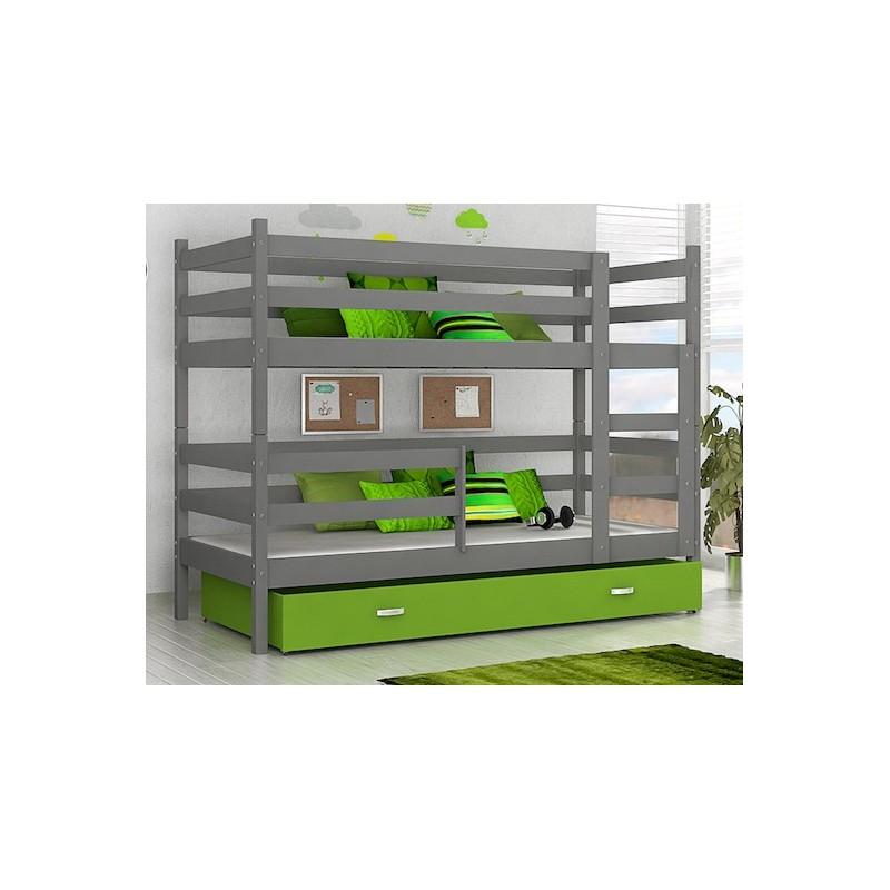 lit superpos john avec tiroir 190x80 cm. Black Bedroom Furniture Sets. Home Design Ideas