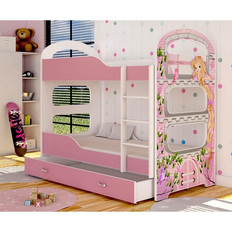 lit superpos avec matelas dominique princesse. Black Bedroom Furniture Sets. Home Design Ideas