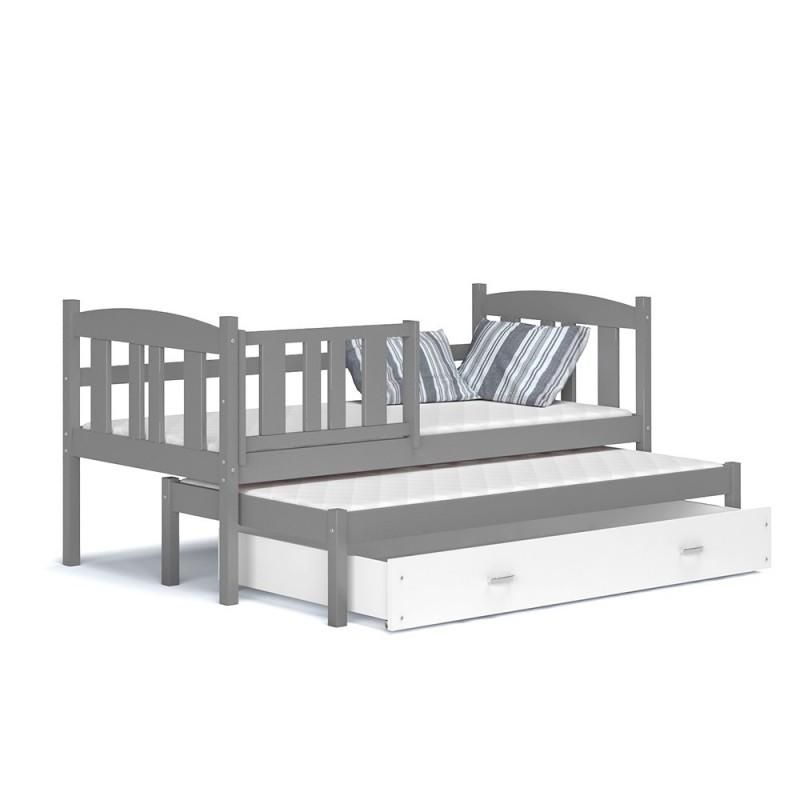 lit gigogne avec tiroir jacob 180x80 cm. Black Bedroom Furniture Sets. Home Design Ideas