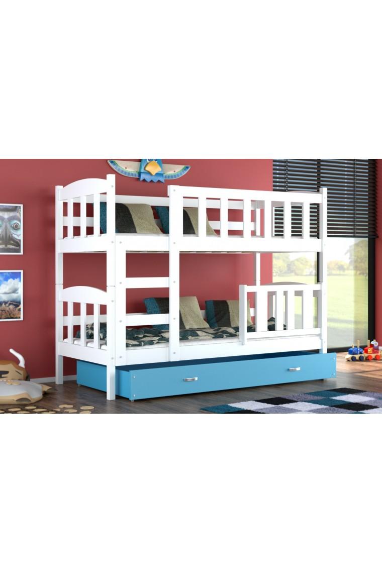 lit superpos bambi avec tiroir 160x70 cm. Black Bedroom Furniture Sets. Home Design Ideas