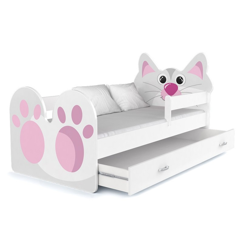 lit enfant minou avec tiroir. Black Bedroom Furniture Sets. Home Design Ideas